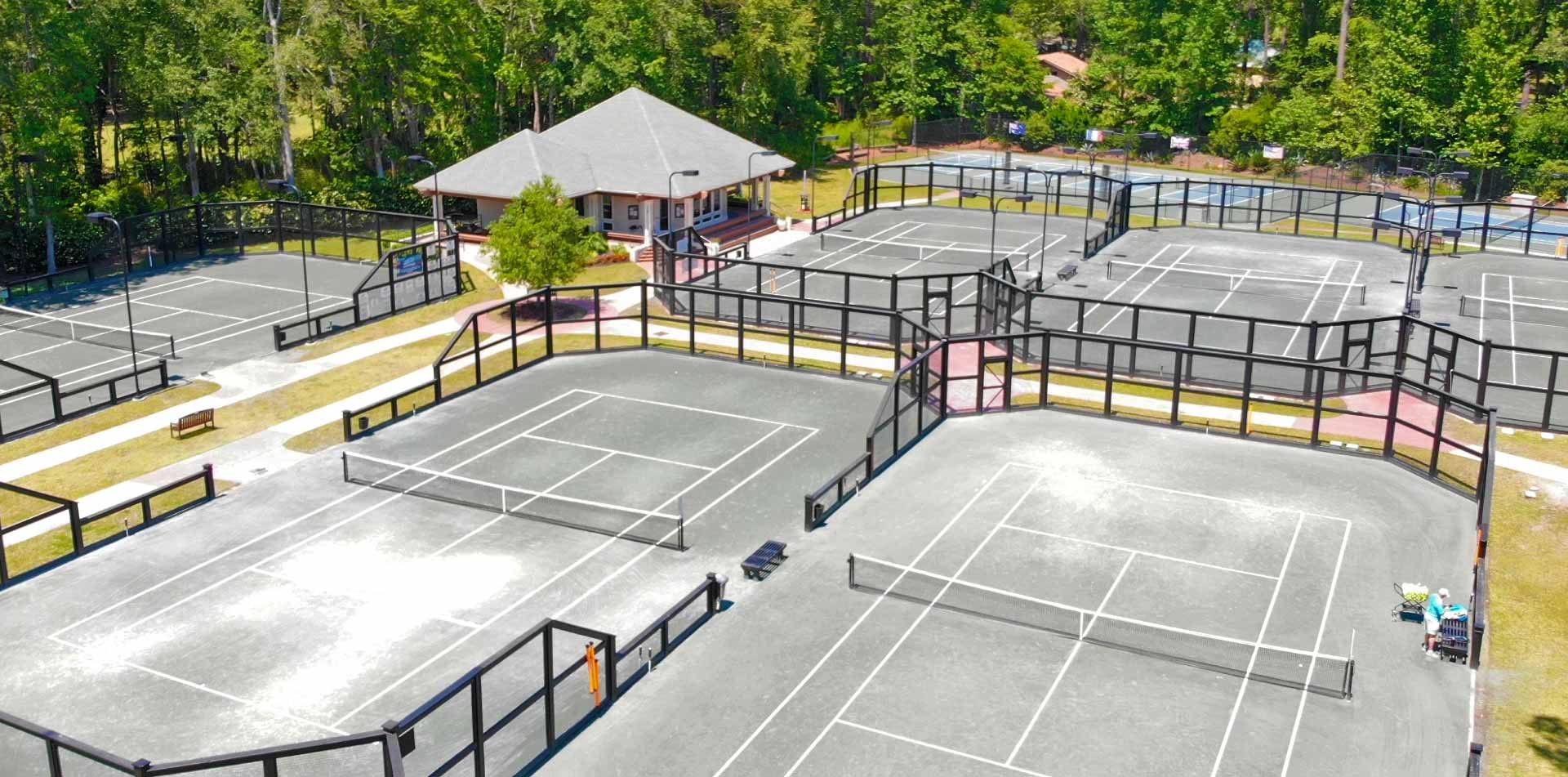 VIew of TLC Tennis facility